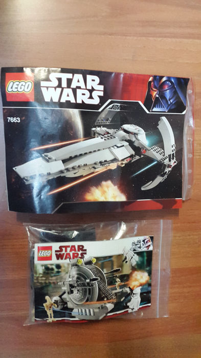 Star Wars - 7748 + 7663 - Corporate Alliance Tank Droid + Sith Infiltrator