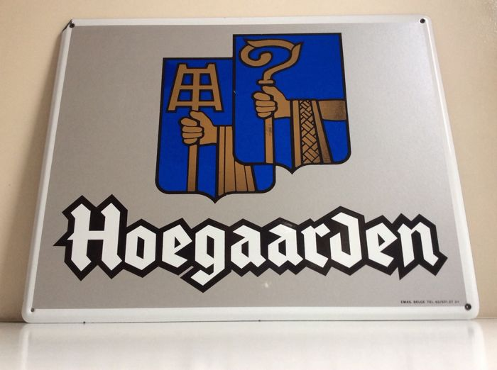 Hoegaarden - large format logo enamel advertising sign