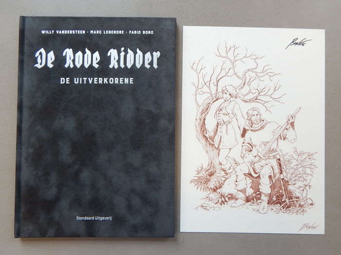 De Rode Ridder 250 - De Uitverkorene + signed print - artist's proof - super de luxe velvet hardcover - first edition (2016)