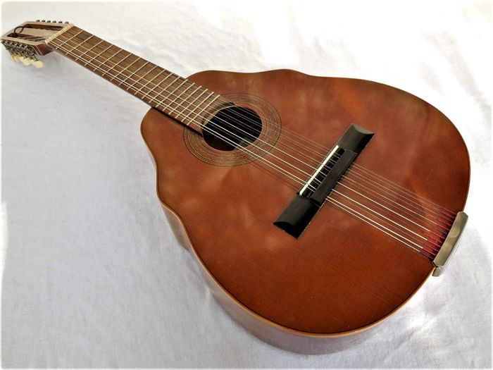 Old Acoustic Guitar 12-string in precious wood, very rare design with  manufacturer - Catawiki