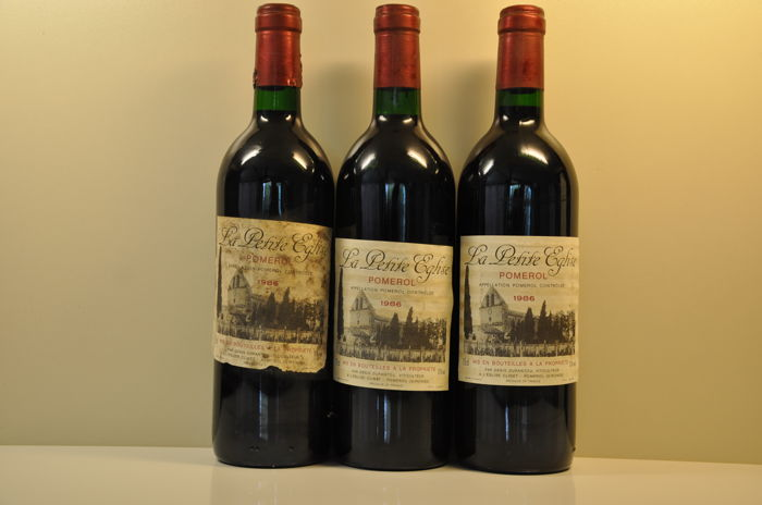 1986 La Petite Eglise, 2nd wine of Chateau L'Eglise-Clinet, Pomerol - 3 bottles