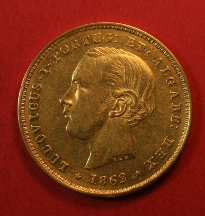 Portugal Monarchy – D. Luís I (1861-1889) – 5,000 Reis – 1862 – Gold