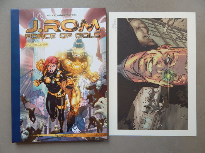J.Rom #2 - Helder + signed print - Author's proof - luxury hardcover with leather spine - 1st edition (2015)