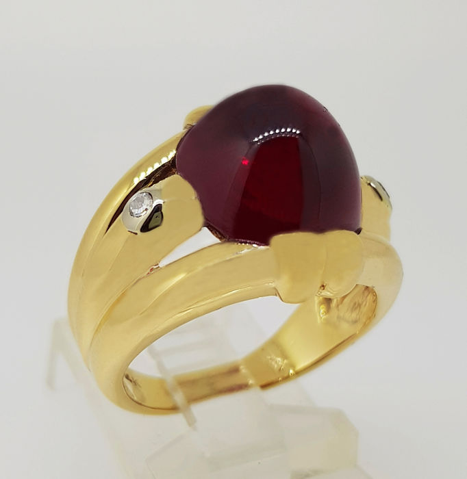 Exclusive ring with Ruby & Diamonds 8.78 ct *NO RESERVE*
