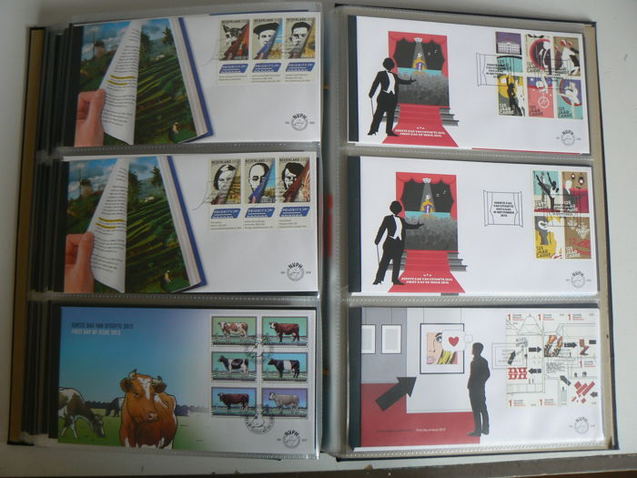 Netherlands 2010/2012 - Three complete volumes of FDCs - NVPH E600/E663