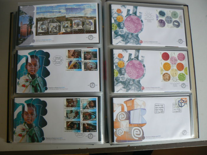 The Netherlands 2007/2011 - 5 complete years of First Day Covers in DAVO album