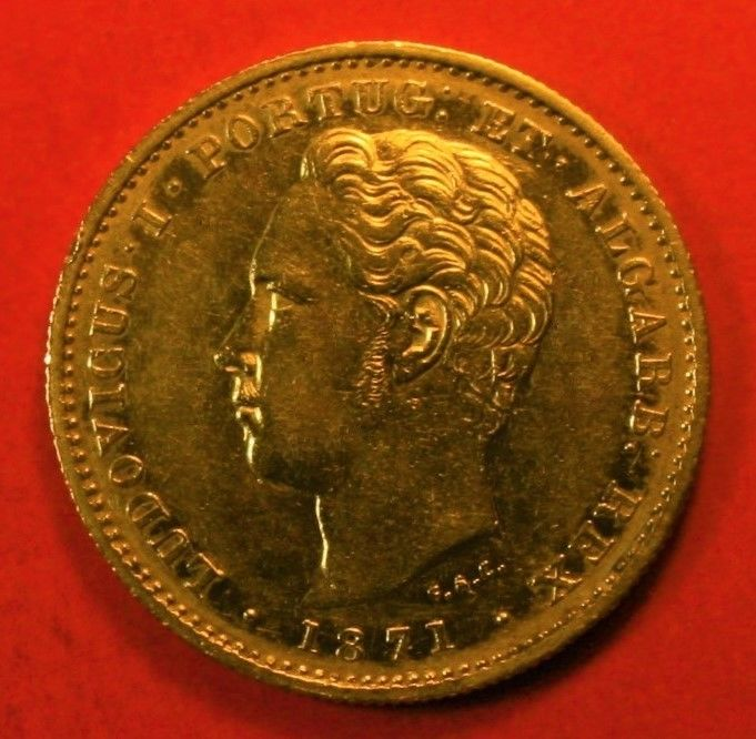 Portugal Monarchy – D. Luís I (1861-1889) – 5,000 Reis – 1871 – Gold