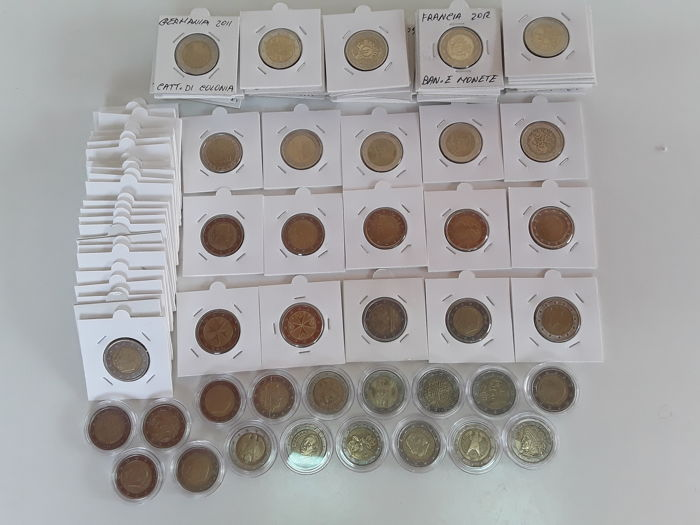 Europe – Lot of 107 x €2 coins, 1999/2016