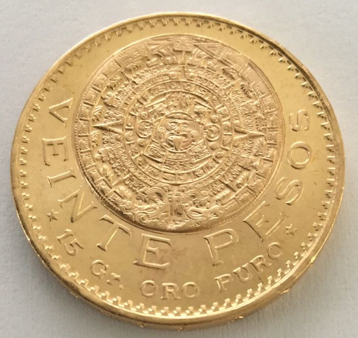Mexico – 20 Pesos 1959 – gold