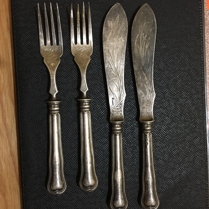 Christofle 4 piece 2 forks and 2 kinives made in france