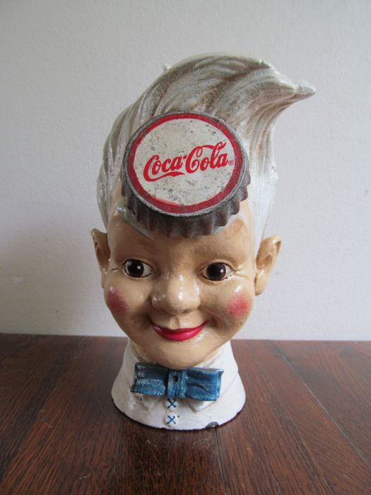 "Coca Cola cast iron money box ""Sprite Boy"" - mid 20th century"