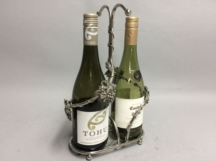 Silver plated holder for two wine bottles, England, Sheffield, ca. 1930