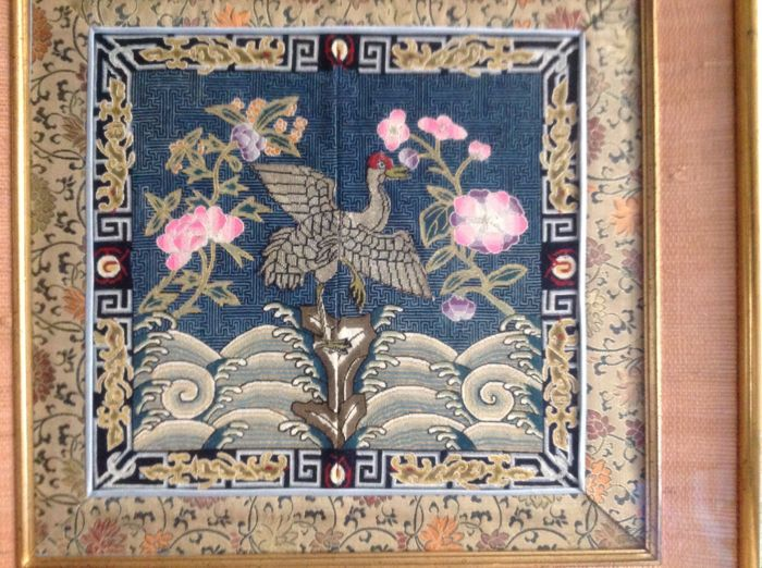 Mandarin square embroidery - China- Late Qing period