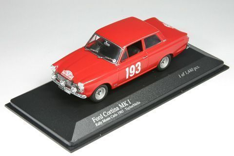 MiniChamps - 1:43 - Ford Cortina MK I #193 Rally Monte Carlo 1963 - Limited Edition of 1.440 pcs.