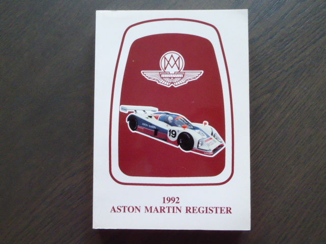 Book; Aston Martin Register - 1992