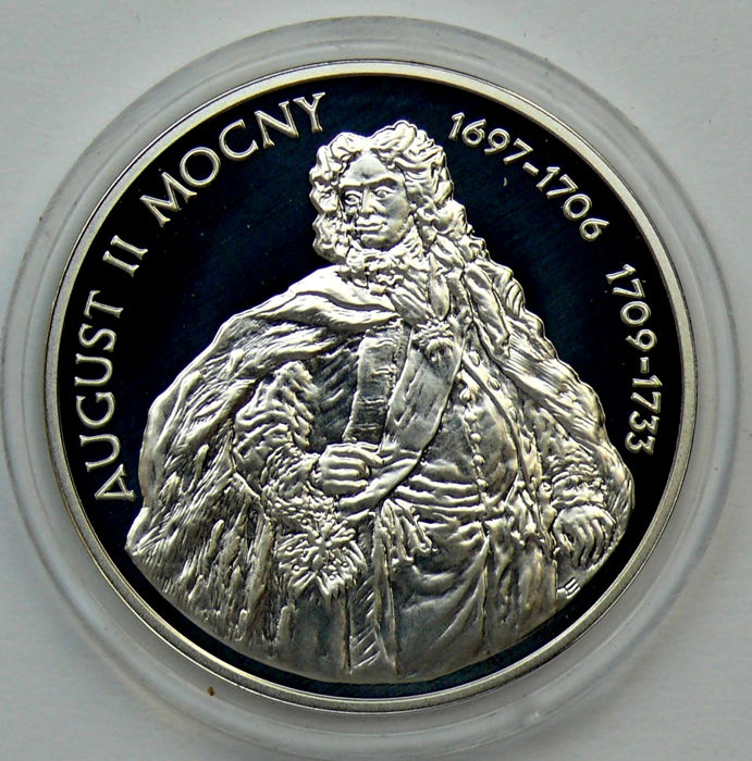 Poland - 10 Zlotych 2005 'King August II the Strong' - silver