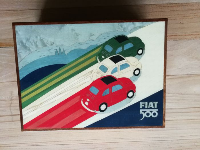 FIAT, cigar box with humidor box - rare