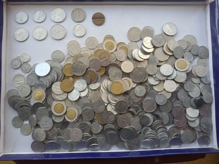 Italy, Republic – Lot of 500 coins from 1934 to 1998