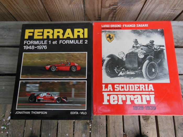 2 Ferrari books - La Scuderia Ferrari 1929-1939 and 1948-1976