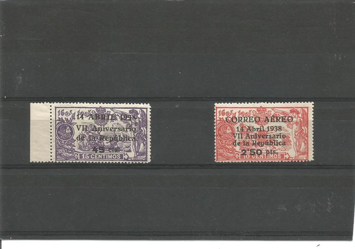 Spain 1938 - 7th Anniversary of the Republic - Edifil 755/756