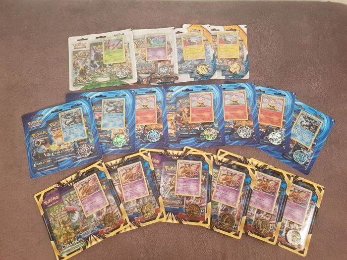 17 Pokemon TCG blisters - English