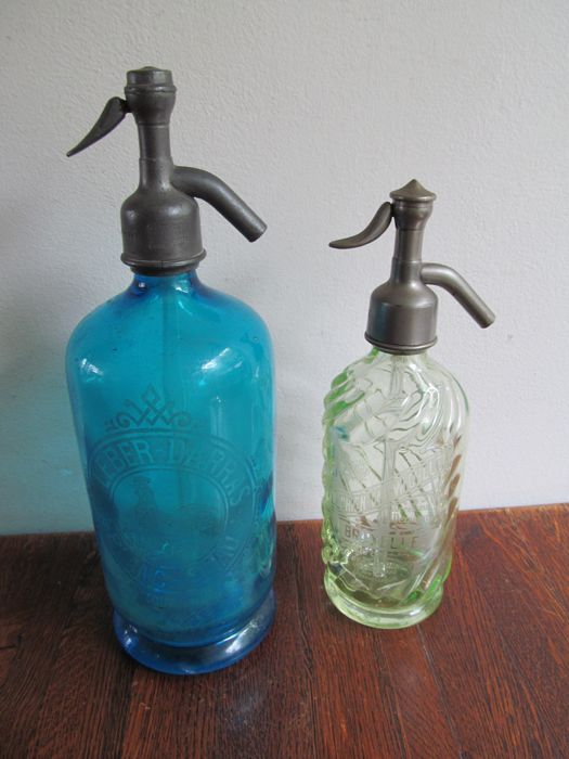 Two beautiful old Seltzer siphons - Belgium and France, early 20th century