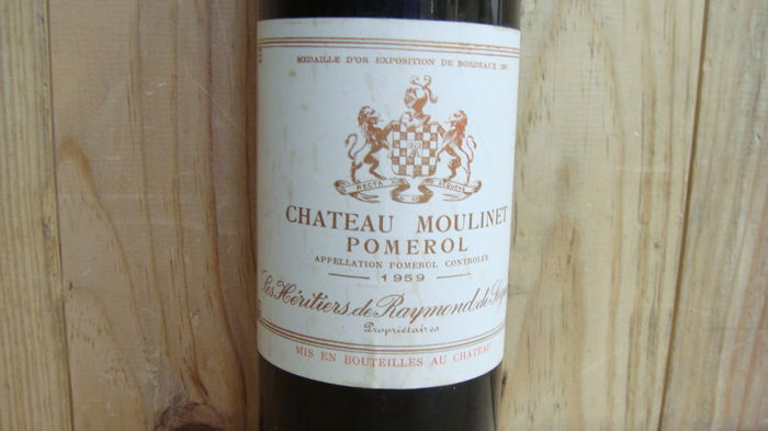 1959 Chateau Moulinet, Pomerol, France - 1 bottle