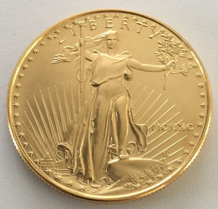 United States - 50 Dollars 1990 'American Eagle' - 1 oz gold
