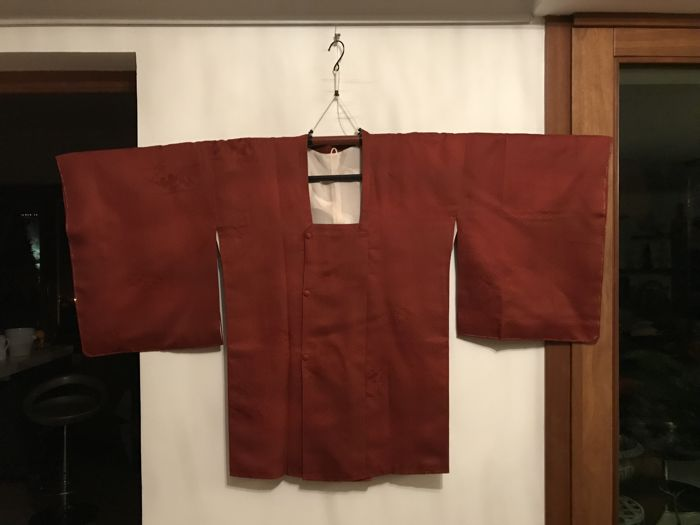 Vintage Michiyuki in Silk - Japan - Mid-20th Century