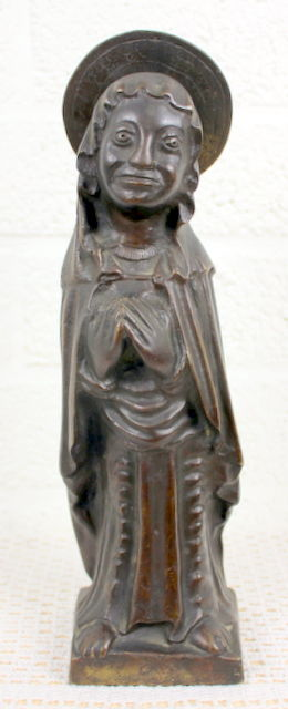Bronze sculpture depicting Saint Mary - the Netherlands - 19th century