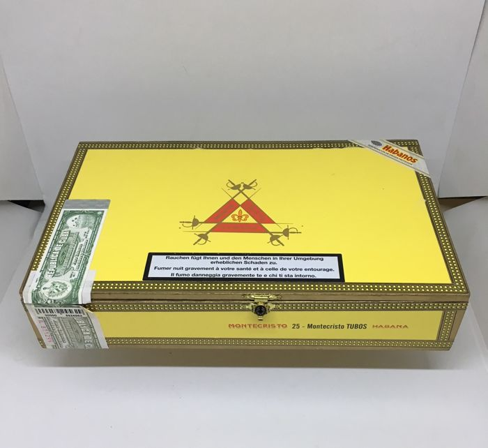 Box with 25 cigars Montecristo Tubos of 2009