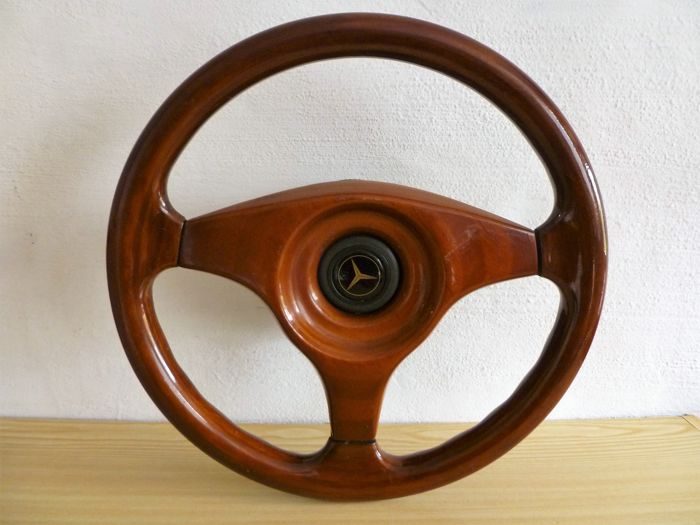 Mercedes - exclusive wooden sports steering wheel - 2nd half 20th century
