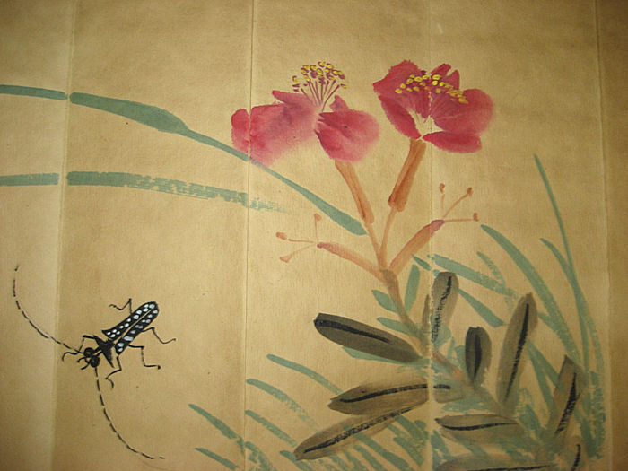 Qi Baishi (齐白石)  - Folded book with Qi Baishi paintings - 2nd half of the 20th century
