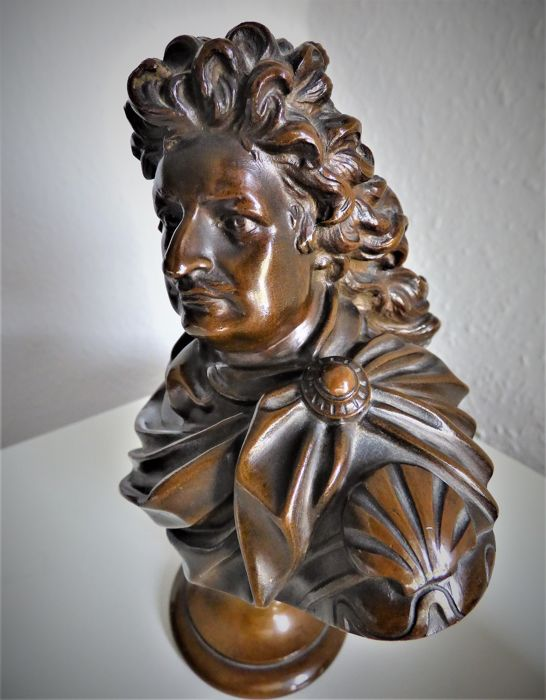 Bronze bust after A. Schlüter - Der Große Kurfürst - cast H. Gladenbeck and Son, after 1887