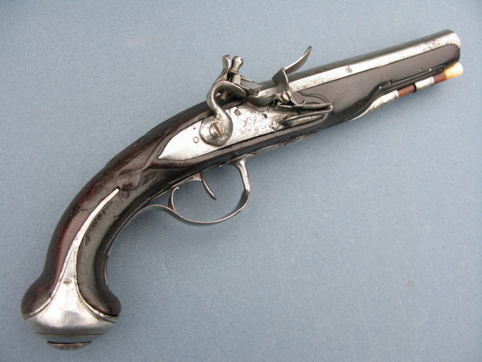 18e century flintlock officers pistol