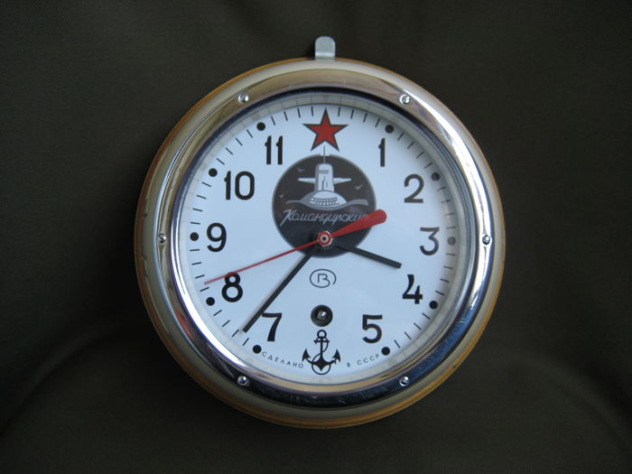 Original NAVY submarine clock (USSR) - 20th century (1975).