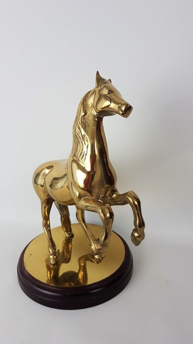 Producer unknown - Brass sculpture of a rearing horse