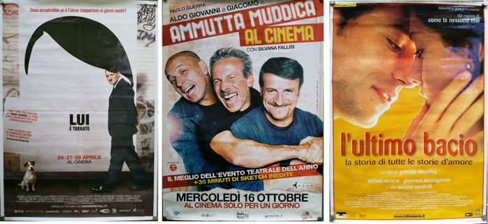 Lot of movie posters - Lui è tornato - Ammutta muddica - L'ultimo bacio