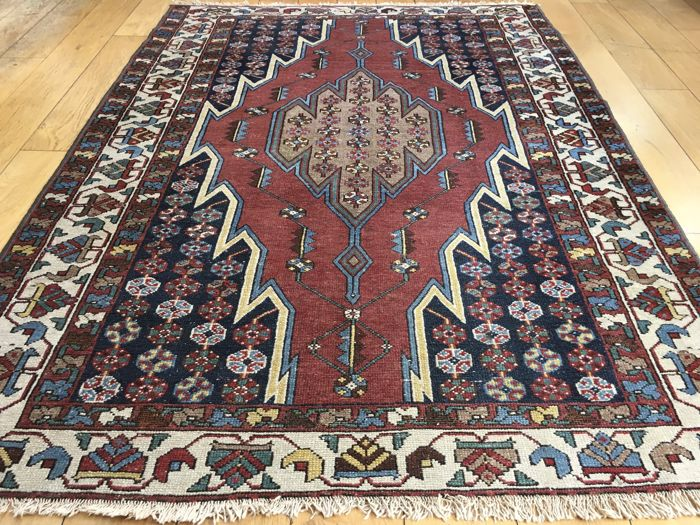 Antique Persian Maslaghan Rug 188x130cm