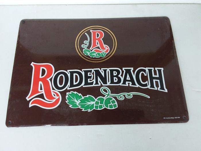 emaille bord rodenbach- Belgie - 1999.
