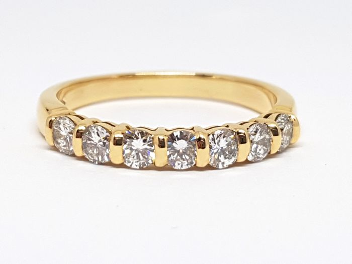 Diamond 7 Stone Alliance Ring 1,24ct. - Ringsize: 58 / 18,50mm