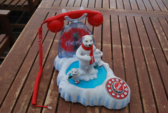 RARE - COCA-COLA telephone - animated polar bears - item from 2001