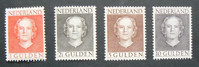 "The Netherlands 1949 - Queen Juliana ""en face"" - NVPH 534/537"