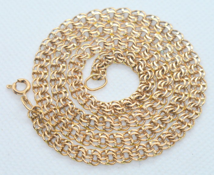14K / 585 Gold chain necklace 'Bismarck' - total weight 15.49 gr - lenght 47 cm