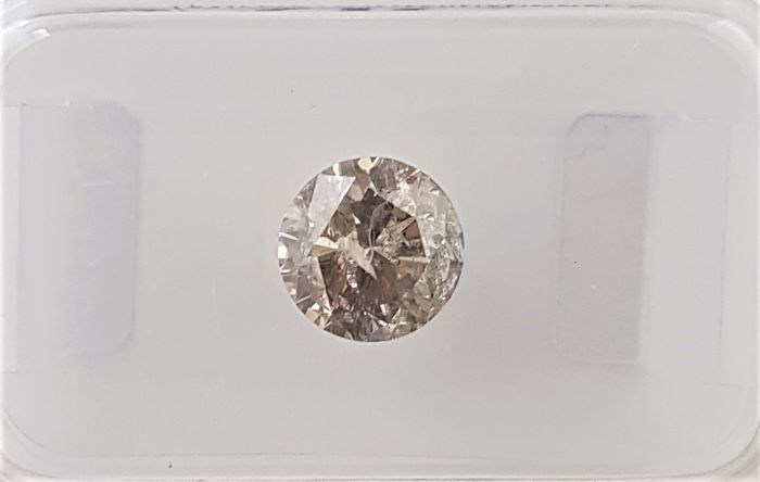 1.04 ct - Natural Fancy Diamond - Greenish Brown Color - SI3 - VG/VG/VG - No Reserve!