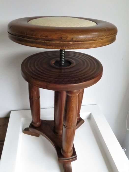 A Piano stool in Amsterdam school style, first half 20th century