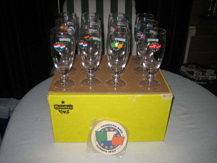 Europe Heineken glasses 1992