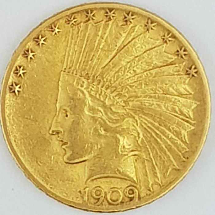 United States - 10 Dollars 1909 ' Indian Head ' - gold