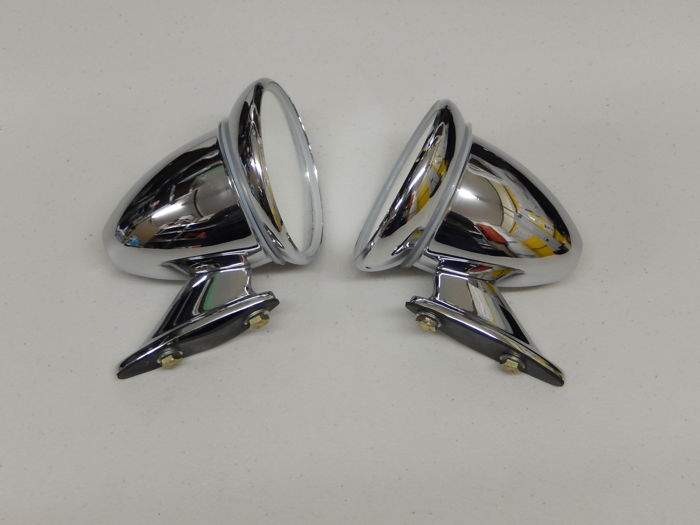Parts - Racing chrome style wing mirrors - 2016