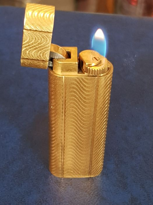 Cartier lighter, gold-plated, after 2000